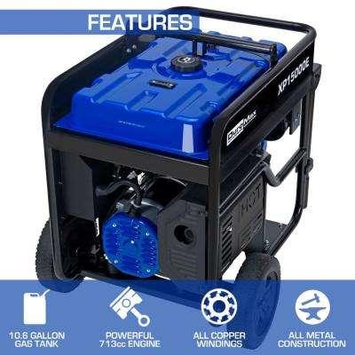 12000-Watt Electric Start Gasoline Powered Portable Generator with V-Twin Engine