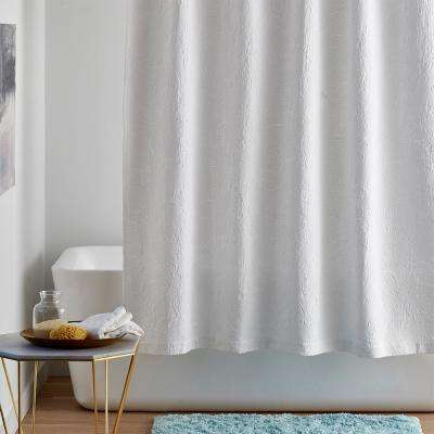 Putnam Matelasse 72 in. Cotton Shower Curtain