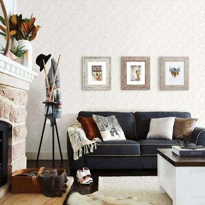 56.4 sq. ft. Tapa Cream Trellis Wallpaper