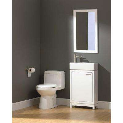 Kole 19-1/2 in. W x 10 in. D Bath Vanity in White with Fireclay Sink in White