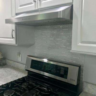36 in. 600 CFM Under Cabinet Range Hood with Light in Stainless Steel