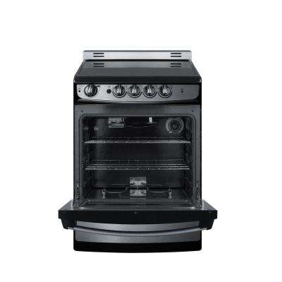 24 in. 3 cu. ft. Slide-In Electric Range in Stainless Steel