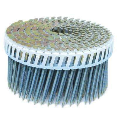 2.5 in. x 0.092 in. 15-Degree Ring Galvanized Plastic Sheet Coil Siding Nail 3,200 per Box
