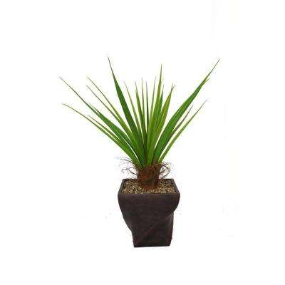 54 in. Tall Agave Plant with Cocoa Skin in 17 in. Fiberstone Planter