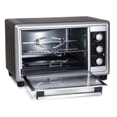 6-slide Stainless Steel Countertop 8-functions Toaster Oven