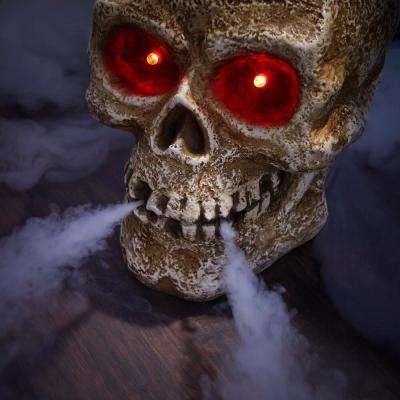 15 in LED Screaming Halloween Fog Skull