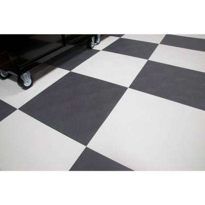 RaceDay Levant Slate Grey Polyvinyl 24 in. x 24 in. Peel and Stick Tile (40 sq. ft. / case)
