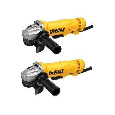 11-Amp Corded 4-1/2 in. Small Angle Grinder with Dust Ejection System (2-Pack)