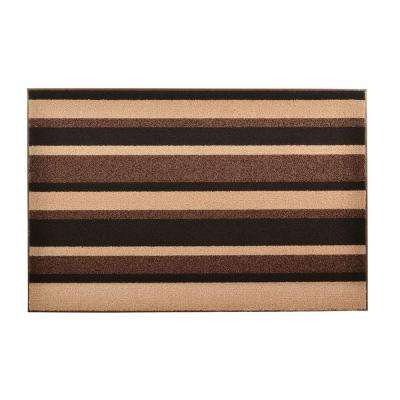 Textura Brown 2 ft. x 3 ft. Vinyl-Backed Entrance Mat