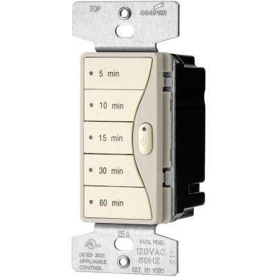 Aspire 1800-Watt 15 Amp 5-Button Minute Timer - Desert Sand