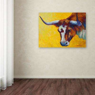 "35 in. x 47 in. ""Longhorn Cow Study"" by Marion Rose Printed Canvas Wall Art"