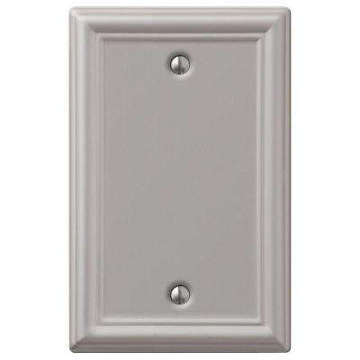Chelsea 1 Blank Wall Plate - Brushed Nickel