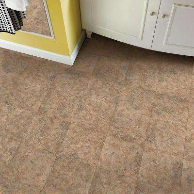 Multistone Clay 12 in. x 12 in. Residential Peel and Stick Vinyl Tile Flooring (45 sq. ft. / case)