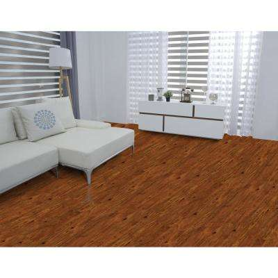 Warm Cinnamon Hickory 12 mm Thick x 6.1 in. Wide x 47.64 in. Length Laminate Flooring (14.13 sq. ft. / case)