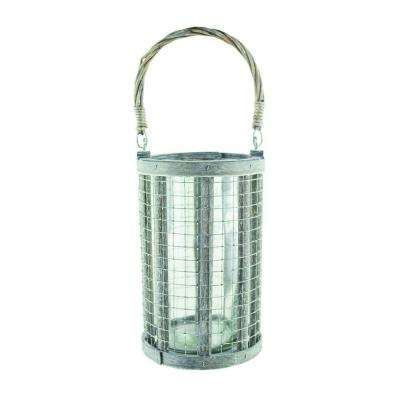 8-5/8 in. Wire Lantern with 4 in. x 8 in. Glass