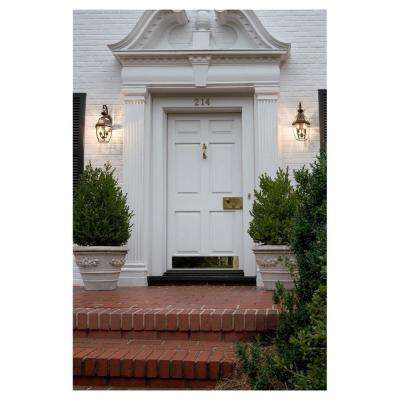 Lancaster Large 10 in. W 2-Light Black Outdoor Wall Mount Lantern with Clear Beveled Glass