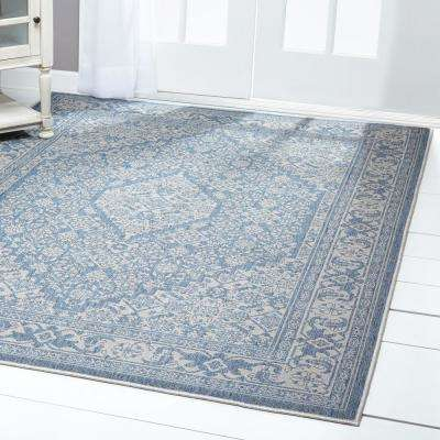 Blue Outdoor Rugs Rugs The Home Depot
