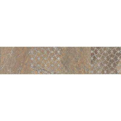 Ayers Rock Bronzed Beacon 3 in. x 13 in. Glazed Porcelain Decorative Accent Floor and Wall Tile