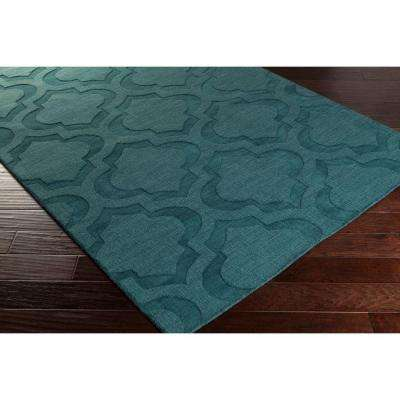 Central Park Kate Teal 2 ft. x 10 ft. Indoor Runner Rug