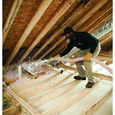 Installed R-19 Fiberglass Blown-in Attic Insulation & Loose Fill - Insulation - Building Materials - The Home Depot