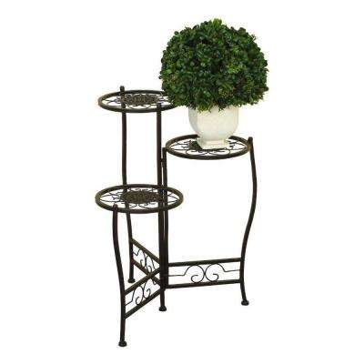 MTL 24 in. H x 18 in. W Iron Plant Stand
