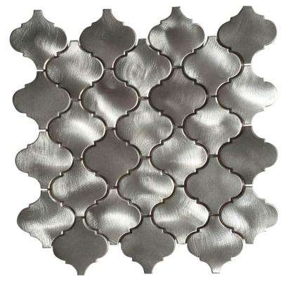 CHENX 11.81 in. x 13.39 in. Aluminum Metal Mosaic Backsplash Tiles (11-Pack)