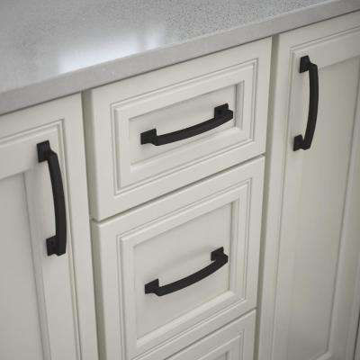 Classic Edge 5-1/16 in. (128mm) Center-to-Center Matte Black Drawer Pull