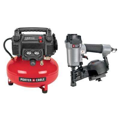Roofing Nailer and Compressor Combo