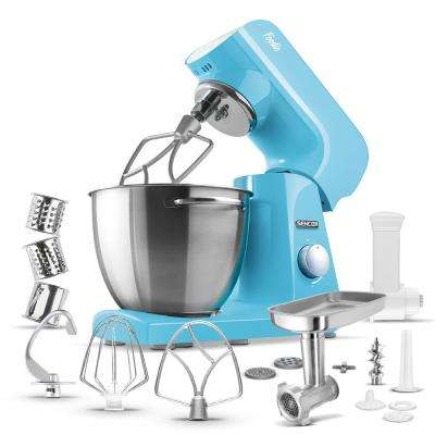 Robust Full-Metal Body with Metal Gears Stand Mixer in Pastel Blue