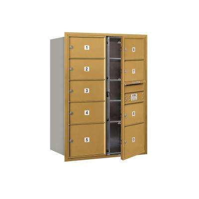 3700 Series 41 in. 11 Door High Unit Gold Private Front Loading 4C Horizontal Mailbox