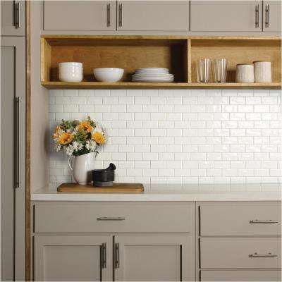 LuxeCraft White Brick Joint 12 in. x 12 in. x 6.35mm Glazed Ceramic Mosaic Tile (0.83 sq. ft. / piece)