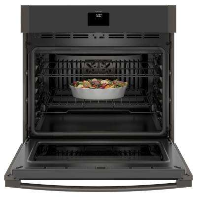 30 in. 5.0 cu. ft. Single Electric Wall Oven with Convection Self-Cleaning in Black Stainless Steel