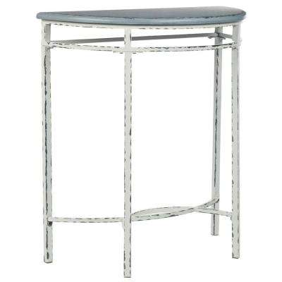 Lee Ann Console Table in White and Blue