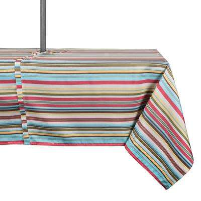 Outdoor 60 in. x 120 in. Polyester with Zipper Tablecloth