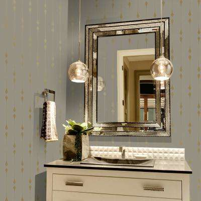Shimmer Taupe and Metallic Gold Leaf Self-Adhesive Removable Wallpaper