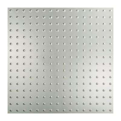 Minidome - 2 ft. x 2 ft. Lay-in Ceiling Tile in Brushed Aluminum