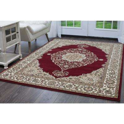 Bazaar Emy Red/Ivory 8 ft. x 10 ft. Area Rug