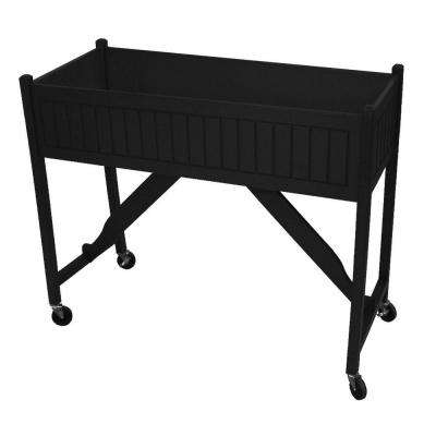 50 in. x 20 in. Black Recycled Plastic Commercial Grade Raised Garden Bed