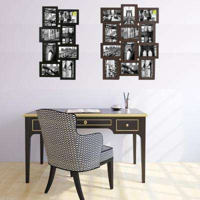Array 11 in. x 23 in. 8-Opening 4 in. x 6 in. Collage Frame in Black