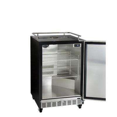 Digital Commercial Undercounter Full Size Beer Keg Dispenser with X-CLUSIVE 3-Tap Commercial Direct Draw Kit