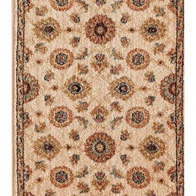 Kurdamir II Alhambra Bone 33 in. x Your Choice Length Roll Runner