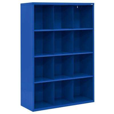 Cubby 46 in. x 66 in. Blue 12-Cube Organizer