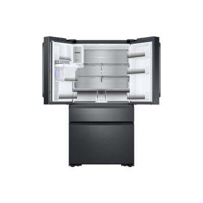 22.6 cu. ft. 4-Door French Door Refrigerator with Polygon Handle in Black Stainless, Counter Depth