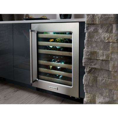 46-Bottle  Built-In Dual Zone Wine Cellar