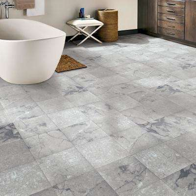 Grey Marble 12 in. Width x 12 in. Length x 0.080 in. Thick Peel and Stick Vinyl Tile