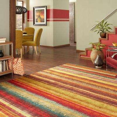 Boho Stripe Multi 3 ft. x 4 ft. Indoor Area Rug