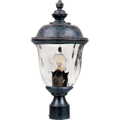 Carriage House Vivex 1-Light Oriental Bronze Outdoor Pole/Post Mount