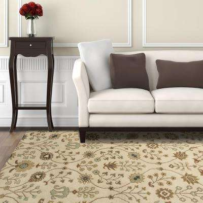 Provencial Cream Wool 9 ft. x 12 ft. Area Rug