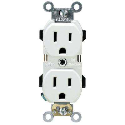 Prograde 15 Amp Narrow-Body Duplex Outlet, White