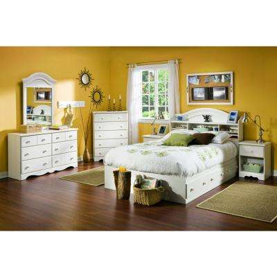 Summer Breeze 4-Piece White Wash Full Bedroom Set